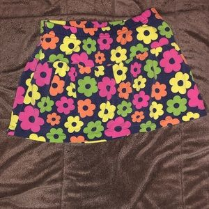 Girls 6/6x multicolor flower skort